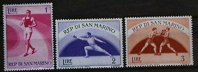 Nett 3 Briefmarken San Marino Sport 1954 Gut FüR Antipyretika Und Hals-Schnuller San Marino