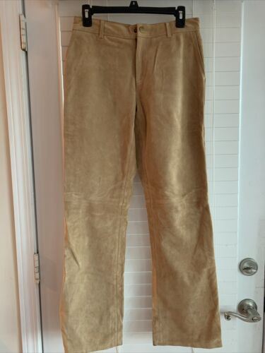 Tommy Hilfiger Classic Suede Leather Straight Pant