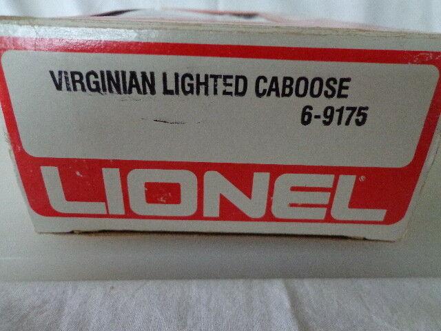LIONEL LIONEL LIONEL O e 027 GAUGE VIRGINIAN LIGHTED CABOOSE 9175 ab11d4