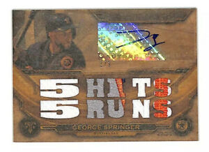 2019 Topps Triple Threads George Springer 1/1 wood auto patch card Astros