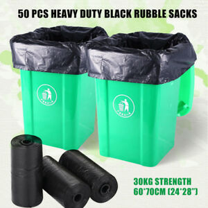50pc-Heavy-Duty-Extra-Strong-Black-Rubber-Sacks-High-Strength-Garbage-Bags-30KG