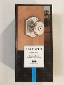 Prestige Series Bed /& Bath Carnaby KnobSatin NickelFree Shipping Baldwin