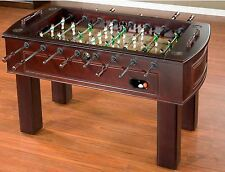 Foosball Table Tornado Soccer Game Outdoor Adults Sport Indoor Room Wood Cabinet