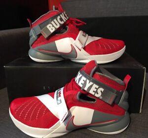 cc86ef0fb5cc Nike Lebron Soldier IX PRM Ohio State Buckeyes OSU 749490-601 Mens ...
