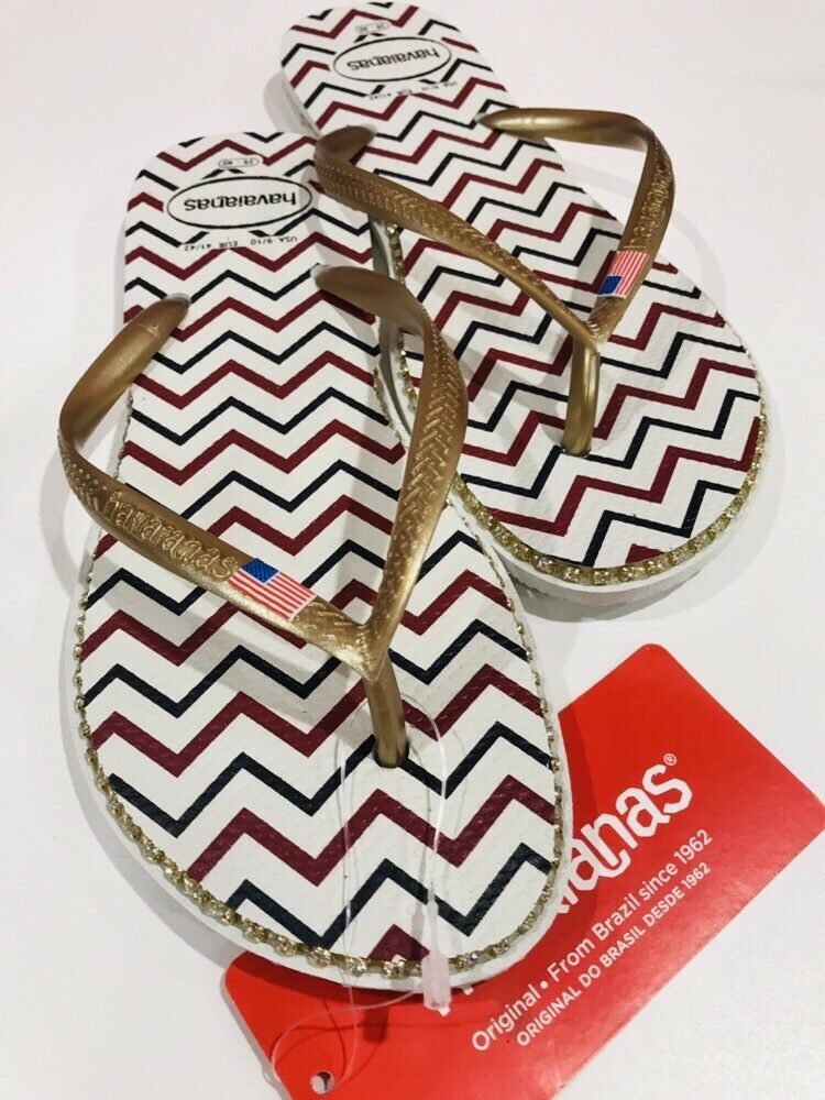 Havaianas Women's Slim Flip Flop Sandals, Americana 39 40 BR 9 10 US