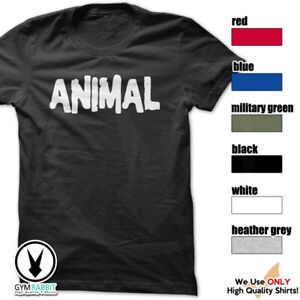 9e957d2e2cfb Image is loading Animal-Gym-Rabbit-T-Shirt-Workout-BodyBuilding-Fitness-