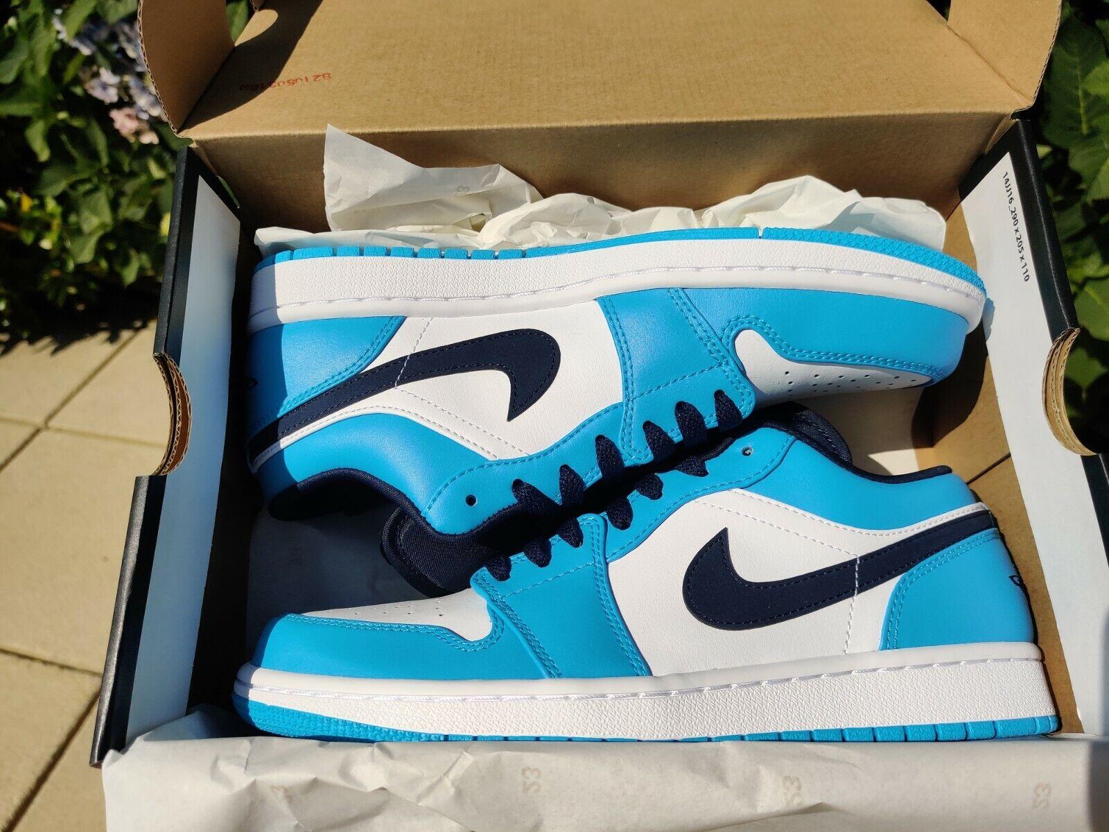Nike Air Jordan 1 Low UNC / University Blue / Obsidian -Brand New- UK11 ✅