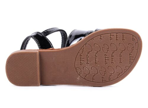 5 Color Strappy Buckle Kids Girls Sandals Flats Youth Casual Shoes Size 9-4