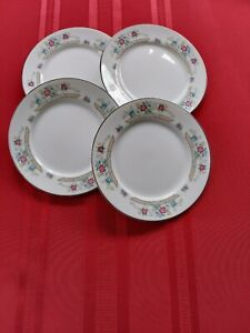 """IMOCO STRATFORD 1188 FINE CHINA 4 ROUND BREAD & BUTTER PLATES 6 1/2"""" JAPAN."""