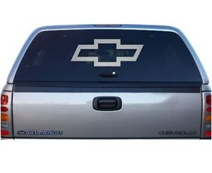 Etched Glass CHEVY BOWTIE Graphic Vinyl Decal For Chevy Truck - Chevy window decals for trucks