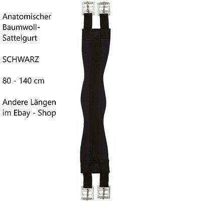 PFIFF 101301 Sattelgurt 80 140 cm Schwarz gepolsterter Baumwoll-Sattel-Gurt