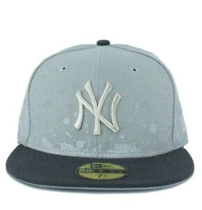 New Era MLB 59Fifty NY New York Yankees Splatter Grey Fitted ... 250bd98e294