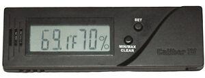Caliber IV 4 Black Adjustable Calibration Digital Hygrometer & Thermometer 1132