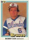 1981 Donruss Bobby Cox #426 Baseball Card