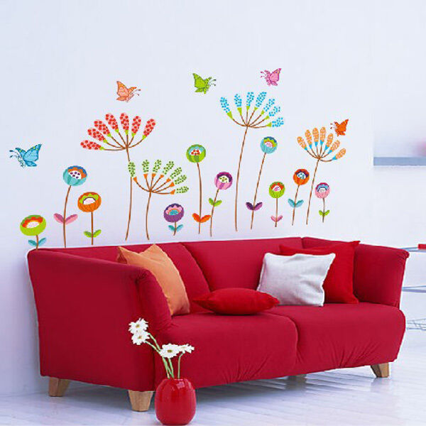 DIY Flower Butterfly Removable Vinyl Decal Art Mural Home Decor Wall Stickers