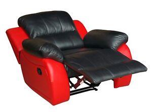Leder Fernsehsofa Relaxsessel Fernseh Sessel Schlaffunktion 5129 1 S