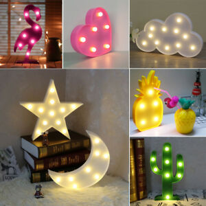 muli form 3d led nachtlicht cute stern mond wand desktop kinderzimmer lampe deko ebay. Black Bedroom Furniture Sets. Home Design Ideas