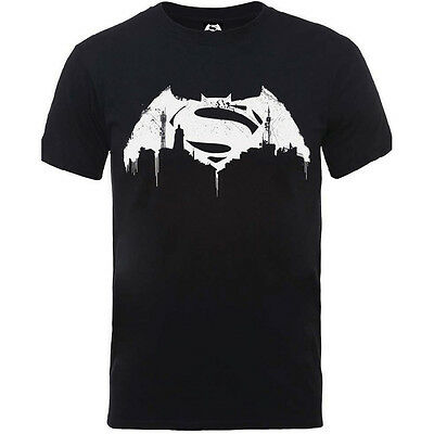 DC COMICS Batman Vs Superman chauve-souris Logo Homme T-shirt gris