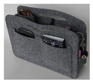 Tasche Organizer Handtaschenorg<wbr/>anizer Taschenorganiz<wbr/>er Bag in Bag Filz Grau