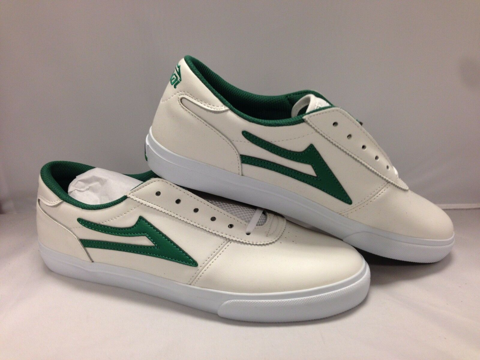 Lakai Men's shoes Manchester''--White Green Leather