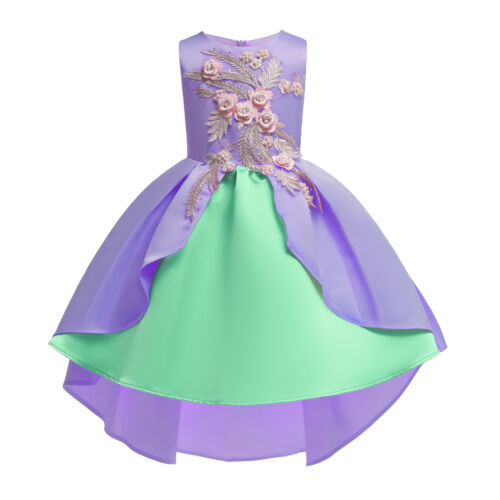 Girls Dress Children/'s Skirt Dress Princess Embroidered Mixed Color For Party