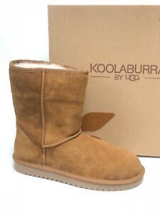 Koolaburra-by-UGG-Women-039-s-Koola-Short-Classic-Boots-Chestnut-1017090-Suede-Sz-9