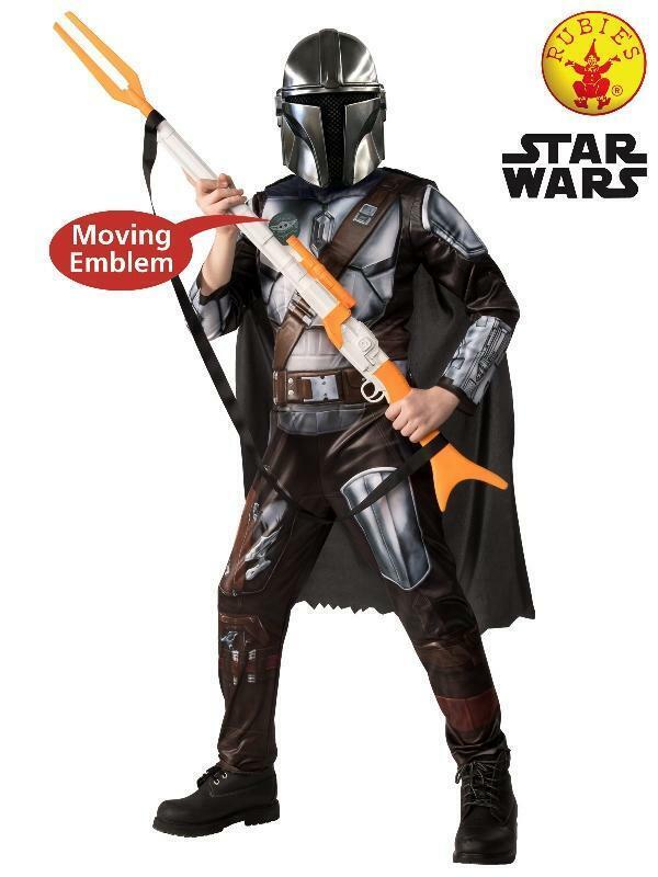 Kid Boys Mandalorian Deluxe Costume Star Wars Book week
