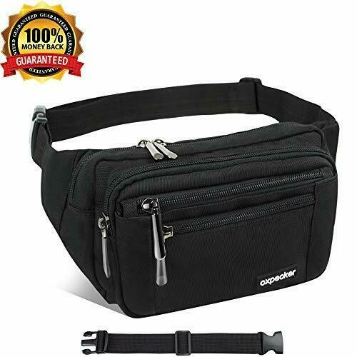 Waterproof Fanny Pack for Men/&Women Oxpecker Waist Pack Bag with Rain Cover