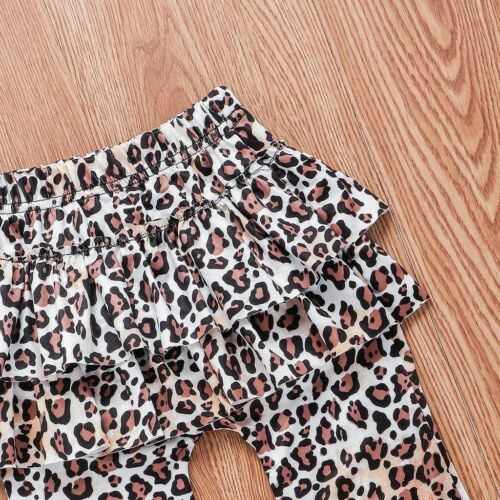 Toddler Baby GirlS Long Sleeve Sweatshirt Tops Leopard Pants+Hairband Outfits