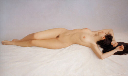Hd Print Young Chinese Nude Girl Oil Painting Art Giclee Printed on Canvas P906