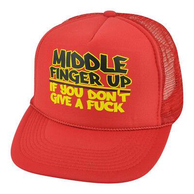 Sport Haben Sie Einen Fragenden Verstand Mittelfinger Up If You Dont Give A F&ck Rot Schaumstoff Trucker Netz Starke Verpackung