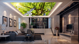3D Sunshine Tree 75 Ceiling Wall Paper Print Wall Indoor Wall Murals CA Carly