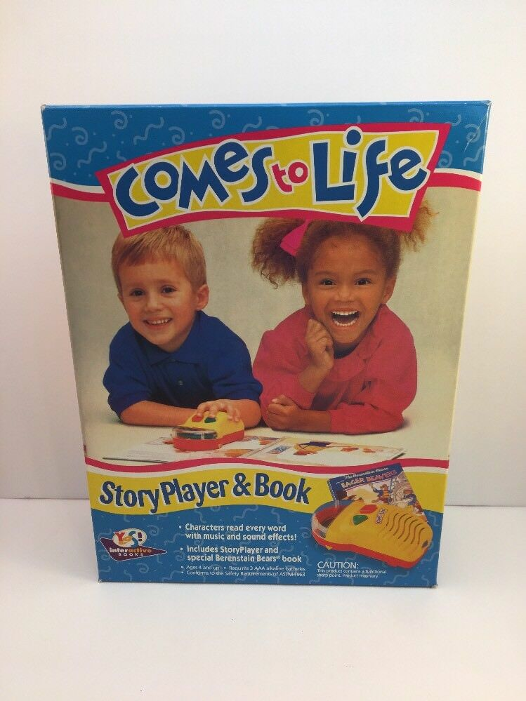 COMES TO LIFE STORY PLAYER AND BOOK VINTAGE 1993 TOY
