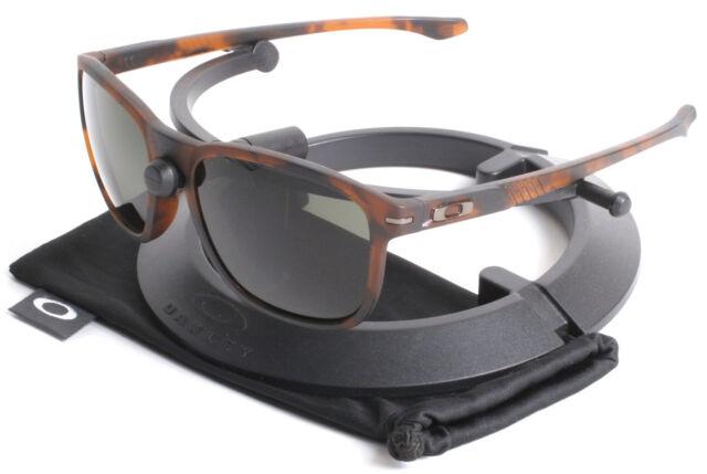 dc71697ecd4 Oakley Matte Dark Tortoise Brown Enduro Sunglasses with Dark Grey Lenses  9223-08
