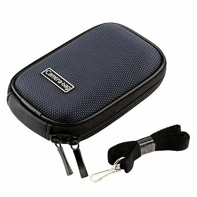 Blue Hard Nylon Carry Camera Case Pouch Bag For Canon PowerShot IXUS 1145 265 HS