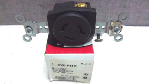 COOPER SINGLE 2P3W 15A 250V RECEPTACLE CWL615R NEW CWL615R