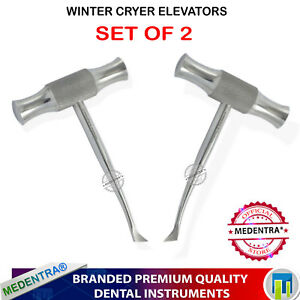 Details about Dental Instruments Winter Cryer Elevator Cross Bar Tooth  Extraction 12L,12R