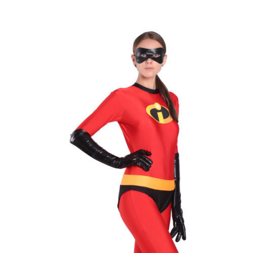 The Incredibles Family Costume Matching Cosplay Elastigirl Violet Parr suit T