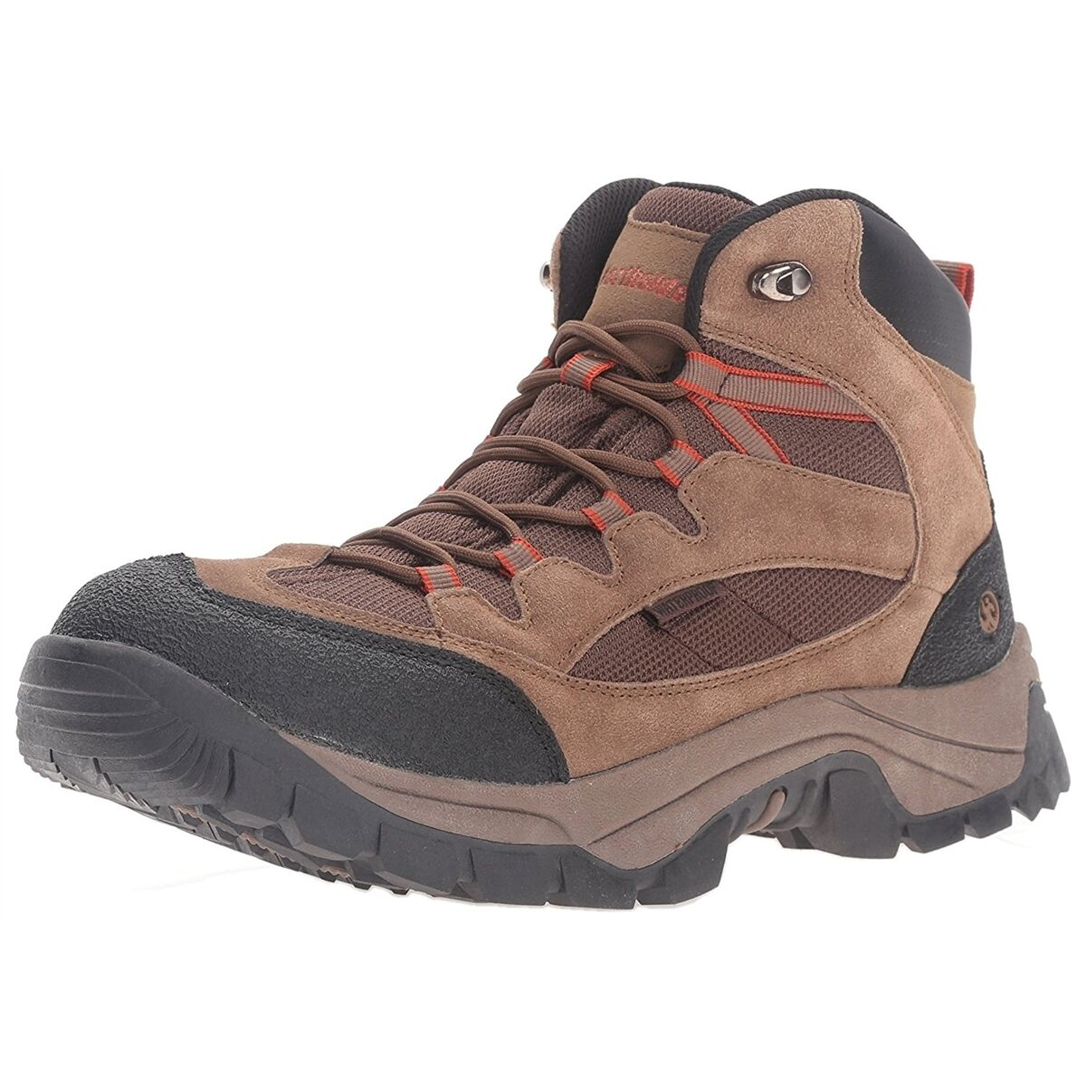 Mens Hiking Boots Northside Montero Mid Waterproof Hiking Boots Brown