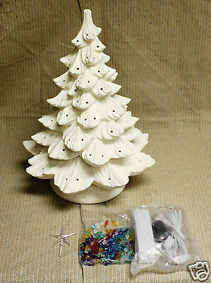 Ceramic Bisque 19 inch Christmas Tree Nowell 342 Ring ...