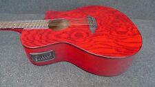 LUNA GYPSY QUILT ASH Acoustic-Electric CUTAWAY Guitar  GYP E QA TRD