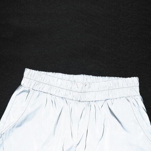 Fashion Flash Reflective Jogger Pants Women Casual Solid Harem Trousers Pants  L