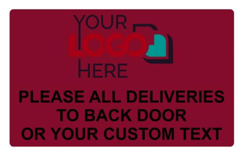 Personnalisé logo toutes les livraisons en Métal Aluminium Signe Porte Maison Bureau plaque