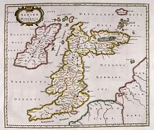 MAP ANTIQUE 1654 SCOTLAND BLAEU BRITISH ISLES LARGE REPLICA POSTER PRINT PAM0116