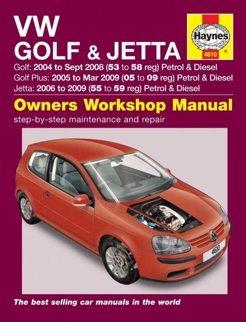 volkswagen vw golf jetta 2004 09 haynes manual 4610 ebay rh ebay co uk VW Golf 7 GTI Custom VW Golf