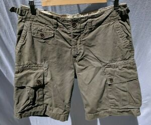 new items classic styles cheapest sale Details about H&M L.O.G.G. Men's Cargo Shorts Size 31 Adjustable Waist  Button Fly Army Green