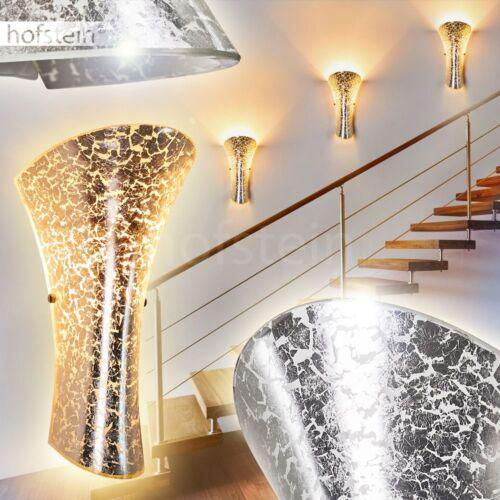 silberfarbene Glas Wand Lampen Wohn Schlaf Zimmer Flur Dielen Beleuchtung modern