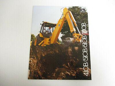 John Deere 410B 510B 710B Backhoe Loader Dealer/'s Brochure DCPA2