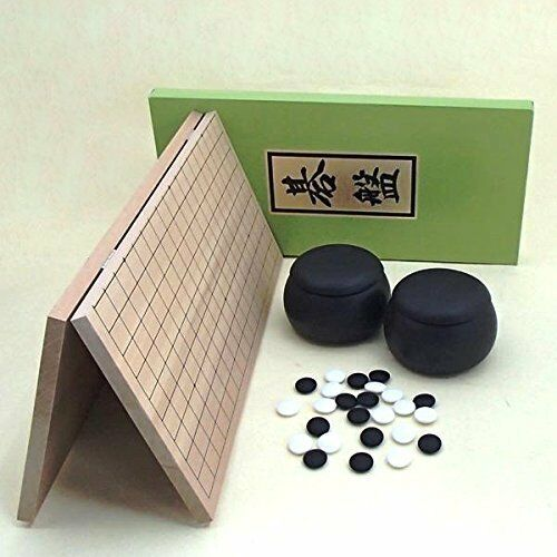 JAPANESE IGO GO GOISHI Folding Wood Board SET 5gou SHOU from JAPAN Japan new.