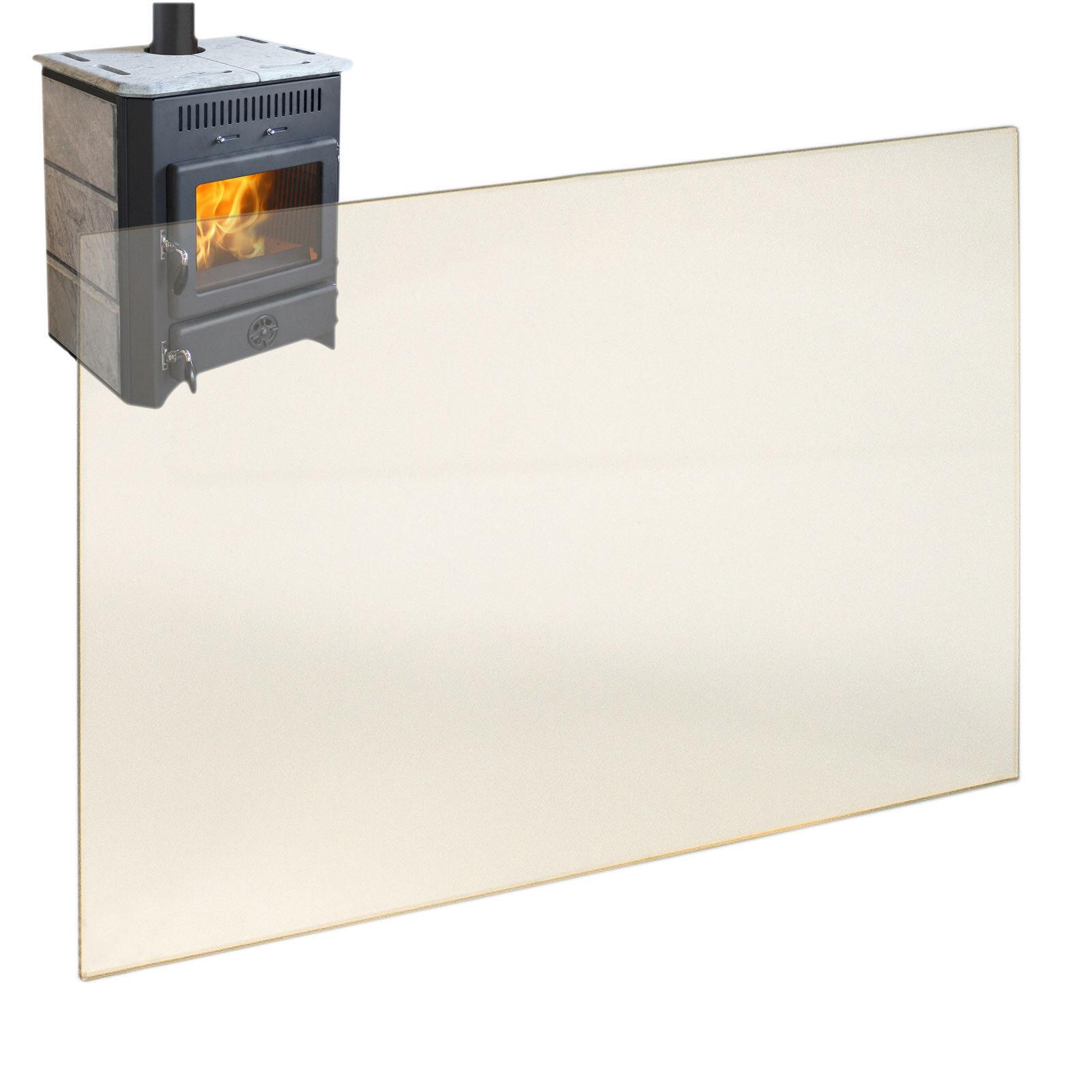 Hitzeschutzglas selbstreinigund Kaminglas Ofenglas Sichtscheibe Ofen 330 x 275mm